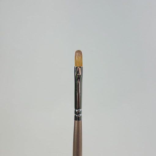Gelpinsel Katzenzunge braun Grösse 6
