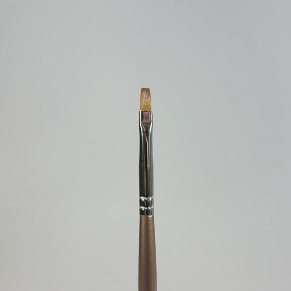 Gelpinsel flach braun Grösse 2