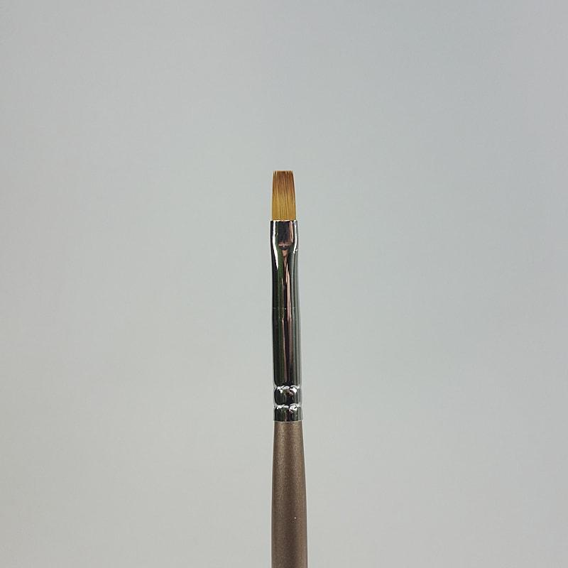 Gelpinsel flach braun Grösse 4