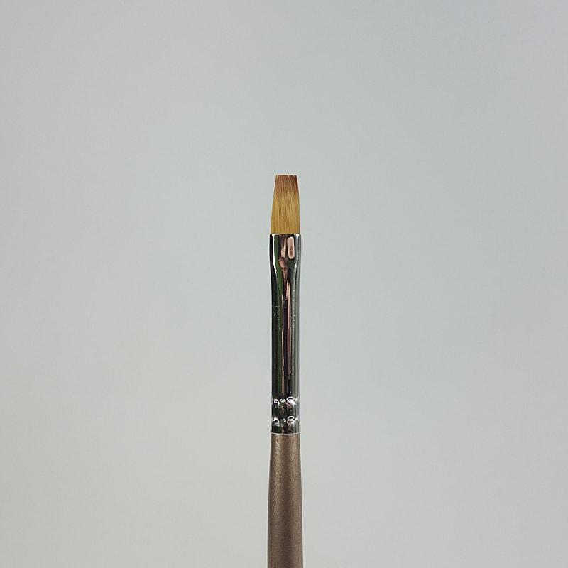 Gelpinsel flach braun Grösse 6