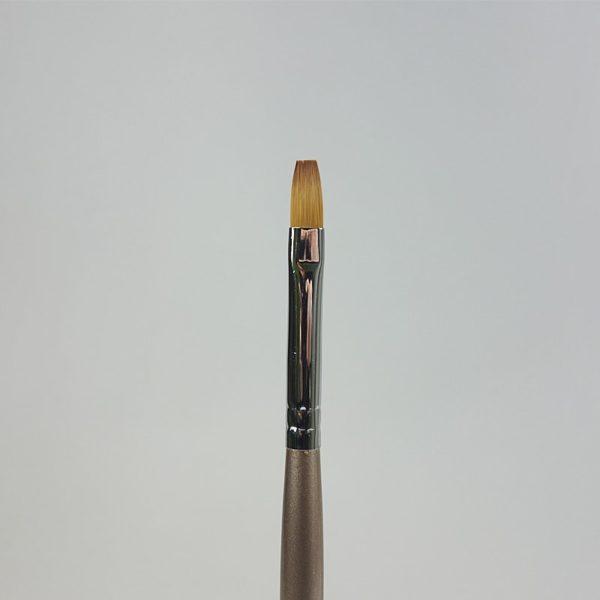 Gelpinsel flach braun Grösse 8