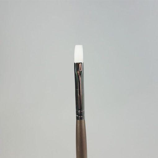 Gelpinsel flach weiss Grösse 8